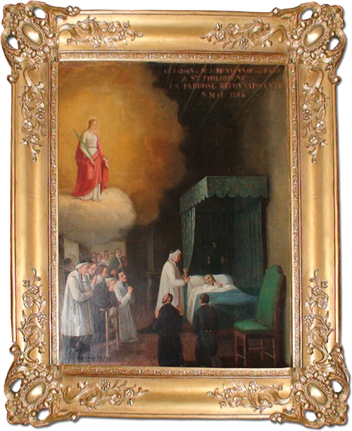 This is how it's described by the Rector Don Gennaro Ippolito, copying from the work of the abbot Monnin: It was the beginning of May, 1843. The venerable Curé, without anyone to help him, succumbed exhausted under the weight of the huge number of people that would come to him for confession. During Maria's month he used to go on the pulpit every night, and address the gathered faithful.
